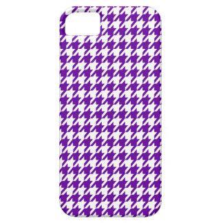 Houndstooth violeta oscuro iPhone 5 Case-Mate cárcasas