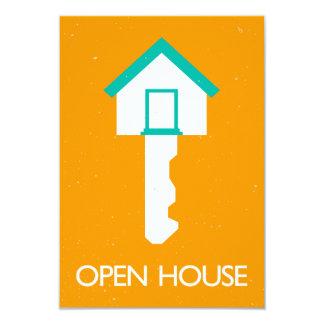 housekey de la casa abierta invitación 8,9 x 12,7 cm
