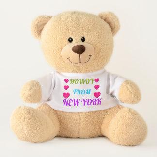 HOWDY de oso de peluche de NUEVA YORK