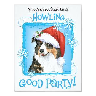 Howliday feliz Aussie Invitación 10,8 X 13,9 Cm