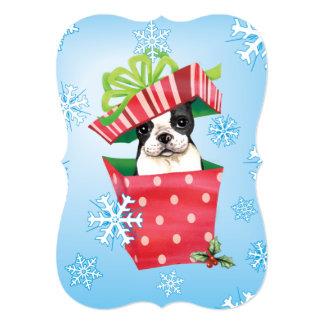 Howlidays feliz Boston Terrier Invitación 12,7 X 17,8 Cm
