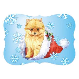 Howlidays feliz Pomeranian Invitación 12,7 X 17,8 Cm