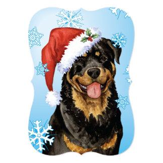 Howlidays feliz Rottweiler Invitación 12,7 X 17,8 Cm