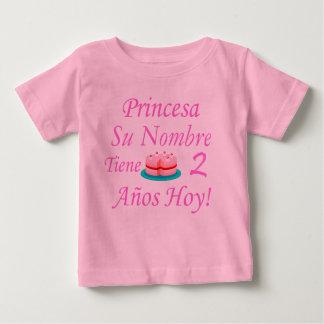 Hoy de Princesa Tiene 2 Años Camisetas