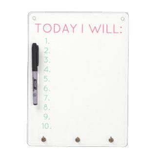 Hoy: Productividad y organización diarias Pizarra Blanca