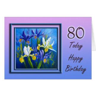 Hoy tarjeta del feliz cumpleaños 80