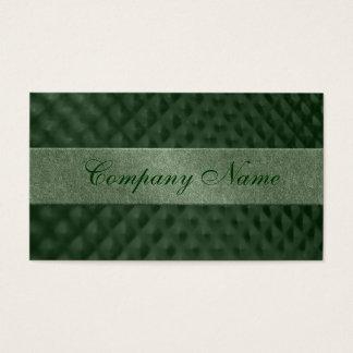 Hoyuelos metálicos verdes tarjeta de negocios