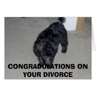 HPIM0003, CONGRADULATIONS EN SU DIVORCIO TARJETA DE FELICITACIÓN