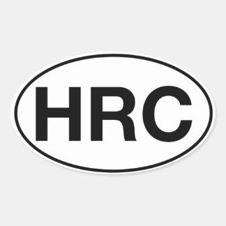 HRC - Pegatinas ovales, mates Pegatina Ovalada