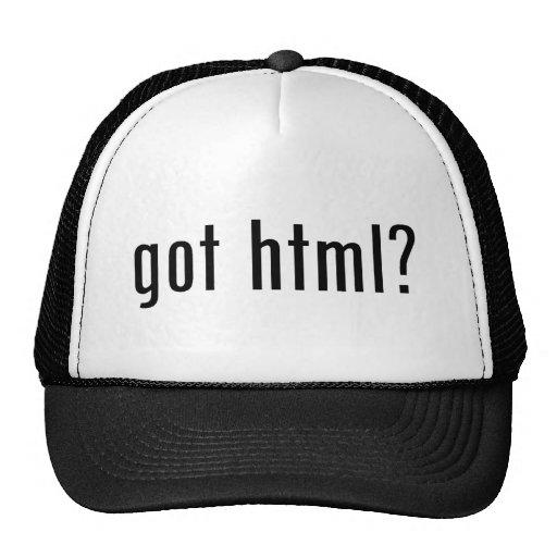¿HTML conseguido? Gorras De Camionero