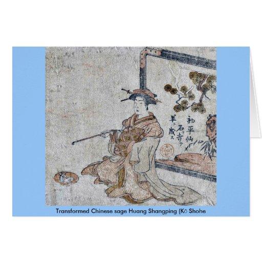 Huang sabio chino transformado Shangping (Kō Shohe Felicitacion