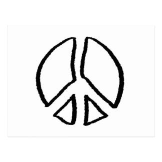 Hueco del signo de la paz tarjetas postales