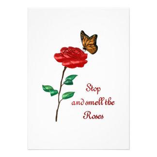 Huela los rosas anuncio