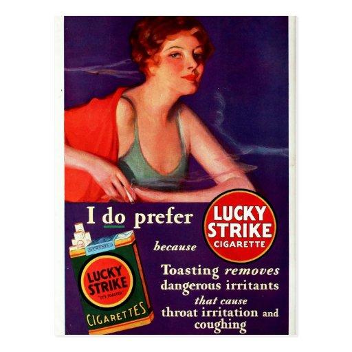 Huelga afortunada 1930 tarjetas postales