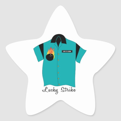 Huelga afortunada pegatina forma de estrella personalizada