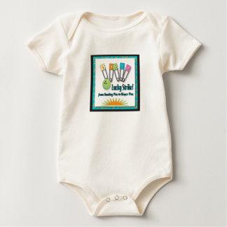 Huelga afortunada retra body para bebé