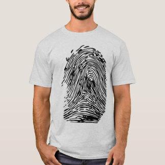 huella dactilar camiseta