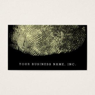 Huella dactilar invertida del lazo tarjeta de negocios