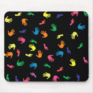 Huella de Handprint multicolora Alfombrilla De Ratón