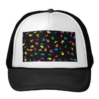 Huella de Handprint multicolora Gorras De Camionero
