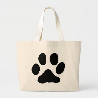 Huella del gato bolsa de mano