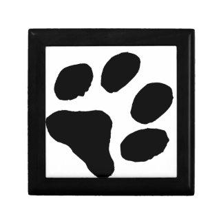 Huella del gato cajas de joyas