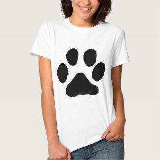 Huella del gato camiseta