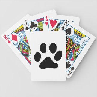 Huella del gato barajas de cartas