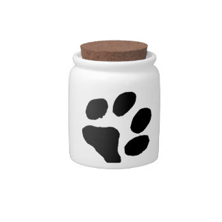 Huella del gato jarra para caramelo