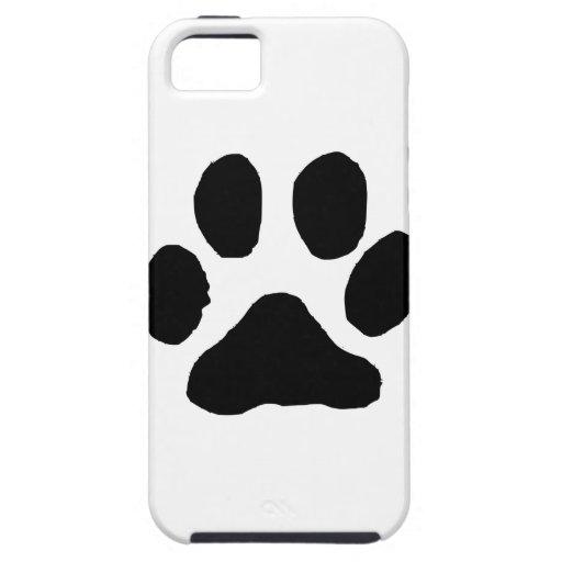 Huella del gato iPhone 5 funda
