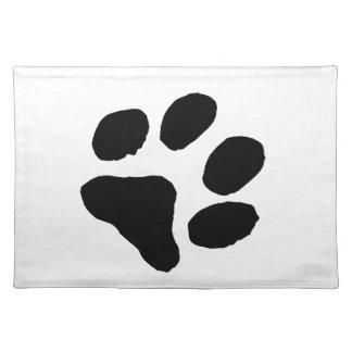 Huella del gato mantel individual