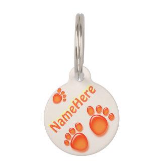 Huella del gato o del perro identificador para mascotas