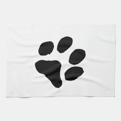 Huella del gato toalla de mano
