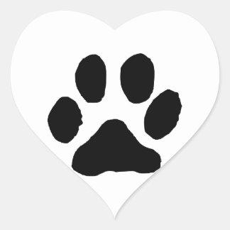 Huella del gato pegatina corazón personalizadas