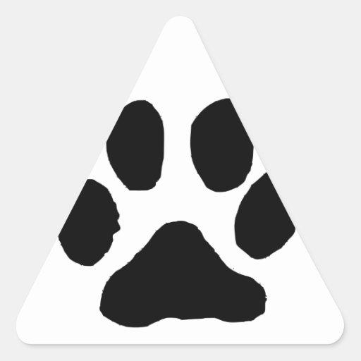 Huella del gato pegatina de triangulo personalizadas
