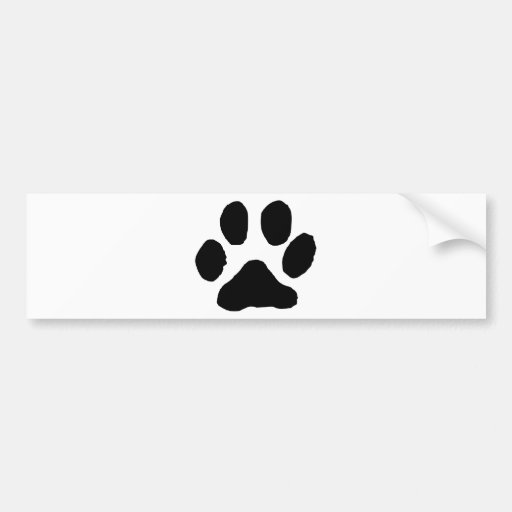 Huella del gato etiqueta de parachoque