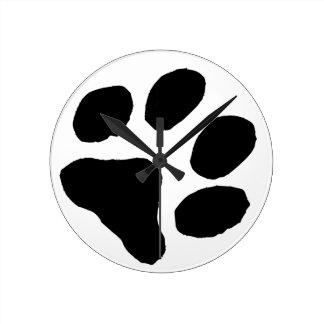 Huella del gato reloj de pared
