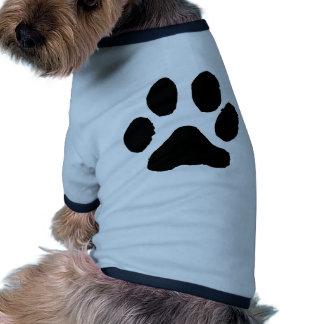 Huella del gato ropa de mascota