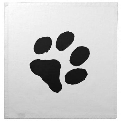 Huella del gato servilleta