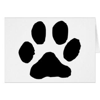 Huella del gato tarjeta de felicitación