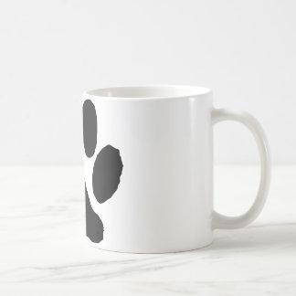 Huella del gato taza básica blanca