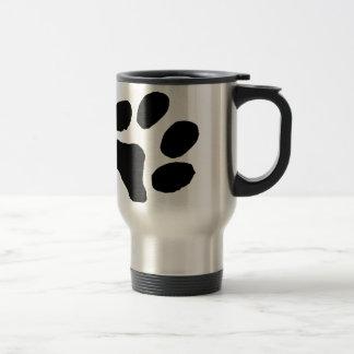Huella del gato taza de viaje de acero inoxidable