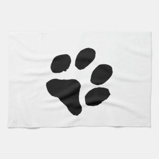 Huella del gato toallas de cocina