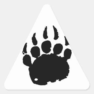 Huella del oso calcomanía de triangulo