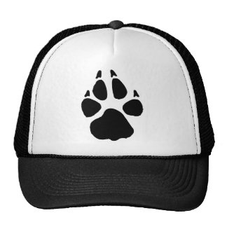 Huella del perro gorras