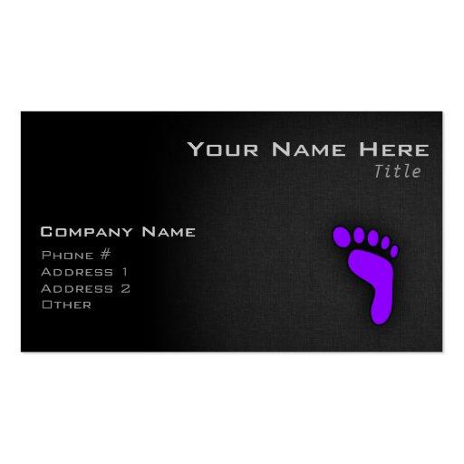 Huella púrpura violeta tarjetas de negocios