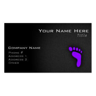 Huella púrpura violeta tarjetas de visita