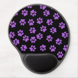Huellas animales púrpuras alfombrilla gel