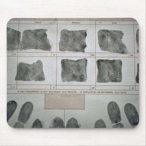 Huellas dactilares alfombrillas de ratones