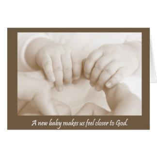 Huellas dactilares de la tarjeta del bebé de dios